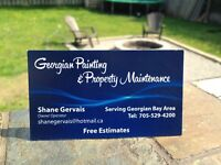 Exterior painting and staining