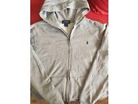 GREY RALPH LAUREN BOYS XL 18-20 hoodie zipper and jumper