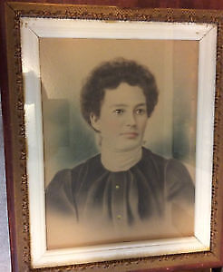 Antique Handcolored Photographs (Early 1900's) x 2