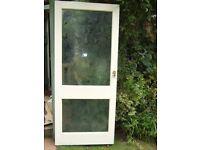 Front door. 2 Glazed panels.