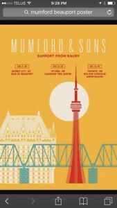 Wanted Mumford & Sons 2016 Tour Poster