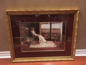 Framed picture of a Woman sitting