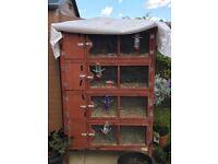 4 tier Small Animal Hutch Block