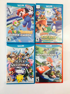 Wii U Mario Games Great Condition Almost New
