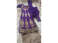Churidar purple pink long kameez slim salwar. From southall RRP £200. engagement nikha eid maria b
