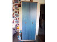 Kids Blue Pine 2 door wardrobe