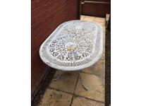 Cast iron vintage garden table