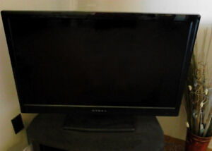 Flat screen HDTV with stand