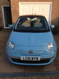 Fiat 500 twin air lounge, blue, lady owner
