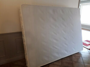 Queen size box spring and frame