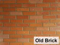 Brick slips, tiles, wall cladding 'Old Brick'