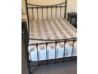 Double bed with twin spring mattress - excellent condition