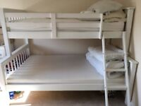 Single and small double bunk bed