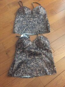 Brand new leopard corset