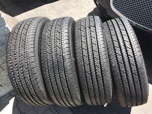 4 pneus été bridgestone v-steel (LT 245 75 r 16) NEUF
