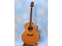 REDUCED~IMMACULATE CRAFTER JE-18 JUMBO ELECTRO ACOUSTIC.
