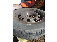 Volkswagen Golf mk4 spare wheel and tyre 185 70 14 5x100