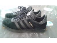 TRAINERS ADIDAS GAZELLE ALL BLACK SUEDE LIMITED EDITION ORIGINAL PERFECT CONDITION UK5 LEITH