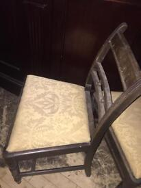 Three antique chairs