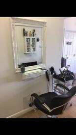 Hairdressing chair for rent in a hair and beauty salon