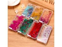 iPhone 5s 6 6s water glitter case cover new