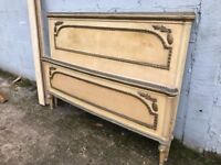 Rare French Antique Original Painted King Size Bed