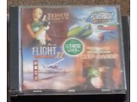 Computer games. Tomb Raider 2 -Flight 2 -Command and Conquer RED ALERT -Creature Shock