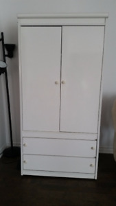 white armoire in good condition