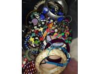 Large Bundle Of Jewellery Mixed Bracelets Necklace bundle Joblot Resale Costome Etc £5 the lot