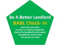 Landlords check out our Inventory and Check-In