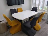 Set of six dining chairs **TABLE NOT INCLUDED**