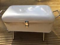 Portable Retro Cream Enamel BBQ