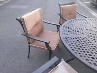 Garden furniture sets. All different prices.