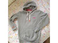 Light grey superdry hoodie