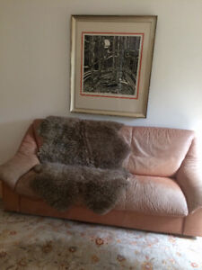 Aged Leather Sofa - Character and Comfort