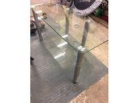 Glass TV Stand. 3 shelves.