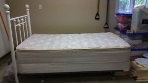 Kingsdown twin mattress, box sping and frame