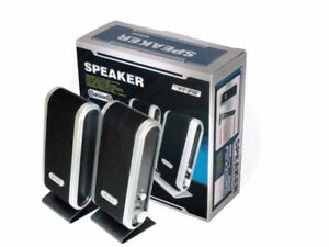 Computer Portable Stereo Multimedia Speakers for PC Laptop Power