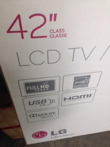New TV still in box