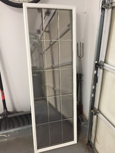 2 Glass Window Inserts with Bars