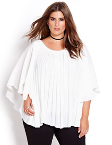 Katherine Barclay Pleated Cape Blouse size 3x