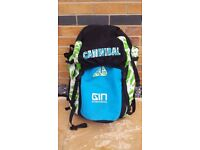 kitesurfing kite GIN Caniball 11m + new bar and lines