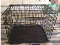 Dog / puppy crate with vet bed