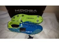 Brand new adult's Kooga control rugby boots size 13 - Blue/Lime