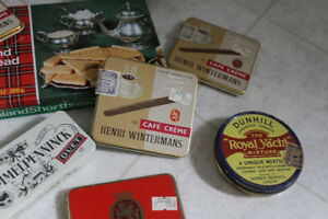 11 Old collectable Tins .. Cigar Tabacco, Shortbread