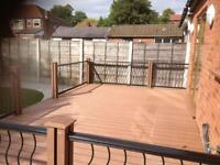 Composite decking & Timber decking.