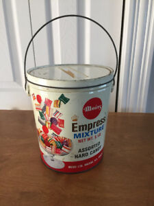 Vintage Moirs Candy Bucket