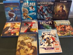 Blu-Ray and DVD and some 3D Titles