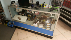 Retail glass display/ service counter