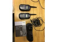 Two BT Freeway FM handsets - with charger, needs new batteries
